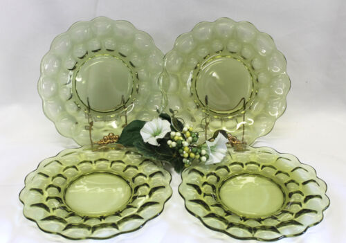 """Imperial Provincial Green 8"""" SALAD / LUNCHEON PLATES  SET OF 4"""