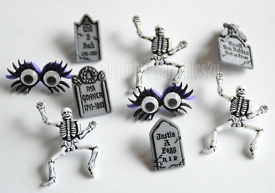 Graveyard Boogie / Jesse James Halloween Buttons / Skeleton ~ Tombstones ~ - Jesse Halloween