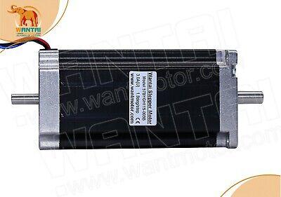 Wt Nema 23 Stepper Motor 3a 425oz-in 112mm Dual Shaft Cnc Router Kit Engraving