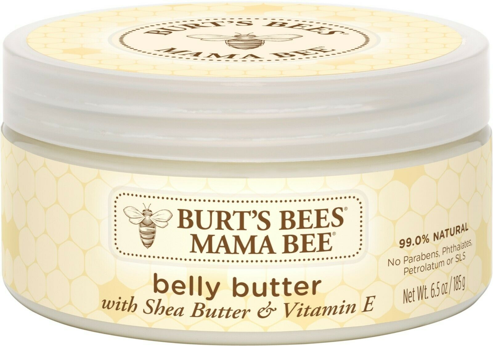 Burt's Bees Mama Bee Belly Butter, Fragrance Free Lotion, 6.