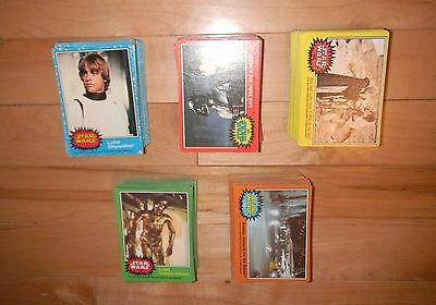 1977 Topps Star Wars Series 1-5 Complete Set