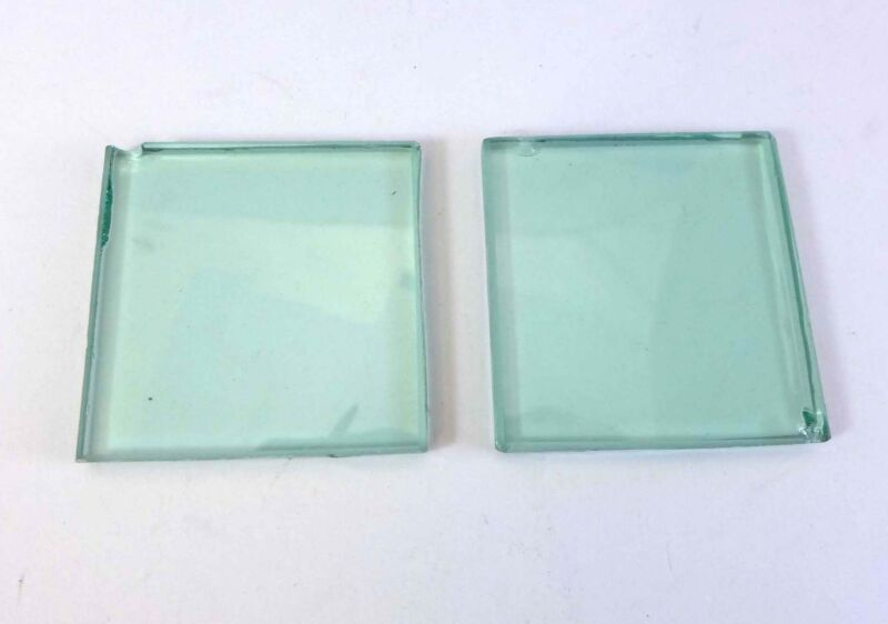 Pair of Heat Absorbing glass (2x2 inches) for projectors and experimentation