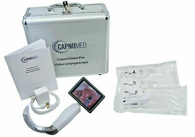 Laryngoscope Hd Video For Airway Intubation Capnovision W Disposable Blade Kit