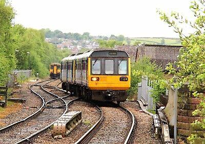 142034+142011 Arriva Rail North 6x4 Quality British Rail Photo b