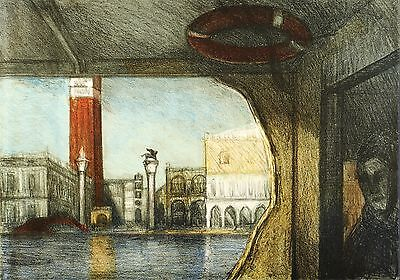 GABI KEIL - Venedig - Vaporetto - Farblithografie 2014