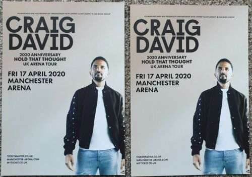 2 Flyers - Craig David - Hold That Thought - 17th April 2020  Manchester Arena