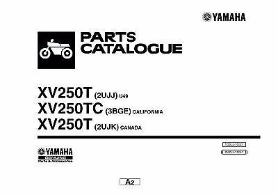 Yamaha Parts Manual Book 2005 XV250T Virago