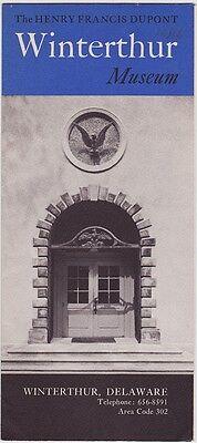 1960's Winterthur Museum Winterthur Delaware Brochure