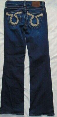 Womens Dark Denim BIG STAR Soft & Stretchy Bootcut Denim Jeans Sz 26 Short Dark Denim Bootcut Jeans