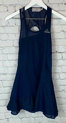 ADIDAS STELLA MCCARTNEY Womens' Barricade Navy Blue Mesh Tennis Dress Size XS