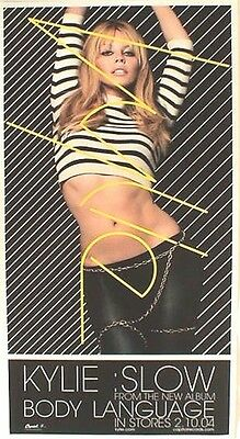 """KYLIE MINOGUE """"SLOW FROM BODY LANGUAGE IN STORES 2-2004"""" U.S. POSTER + POSTCARD"""