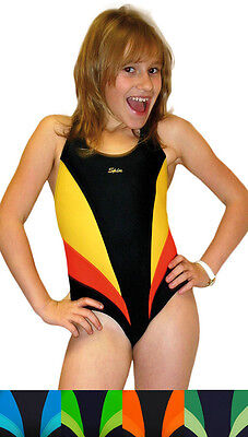 SPIN einteiliger Mädchen Badeanzug Schwimmanzug Badekostüm - Einteiler Schwimmen Kostüm
