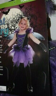 Little Girl Fairy Costumes (Toddler Girls Costumes~Little Lady Bug~Bat Fairy~Size 2T~Dress Headband)