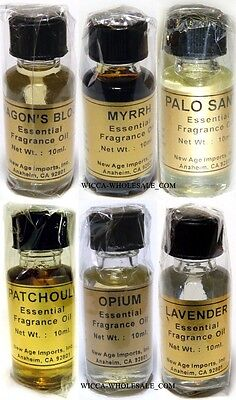 Lot of 6 X 10 ML BEST SELLER Essential Fragrance Oil AMBER LAVENDER, & MORE