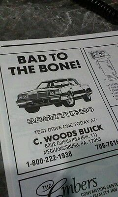 Buick ad grand national 86 rare 3.8 turbo photo poster