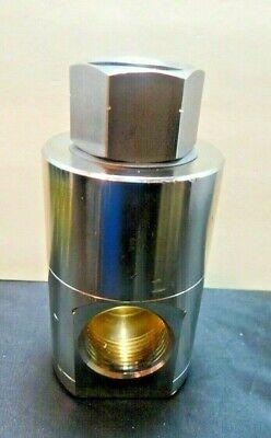 Mosmatic  34.885 F X F 90 Degree 1 Inline Swivelnickel-plated Brass New