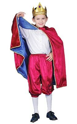 Little Boy Deluxe Maroon Royal King Costume Set By Dress up America