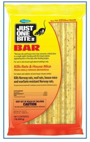 Just One Bite II Cebo Carnada Mata Veneno para Ratas y Ratones 1 paquete de 1 Lb
