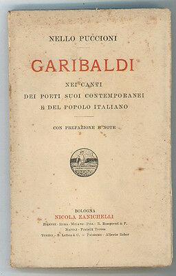PUCCIONI NELLO GARIBALDI NEI CANTI DEI POETI SUOI CONTEMPORANEI ZANICHELLI 1912