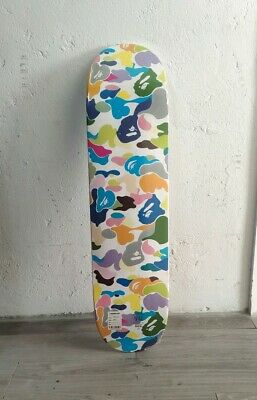 Bape multi camo skateboard deck new a bathing ape