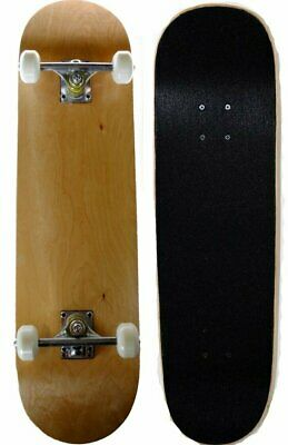 S4O Complete Full Size Standard Maple Deck Skateboard Natural Wood