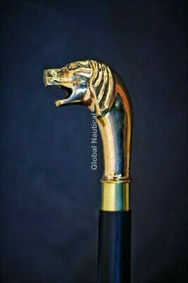 Traditional Dog Headed Designer Brass Handle For Walking Stick/Cane