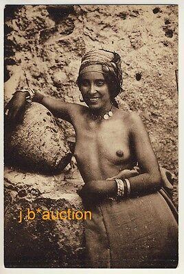 N AFRICA NATIVE WOMAN EINHEIMISCH FRAU NORDAFRIKA VINTAGE 20S ETHNIC NUDE PC