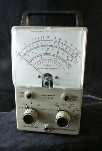 Vintage Heathkit VTVM Vacuum Tube Volt Meter Model IM-18 Series No. 15648 Clean