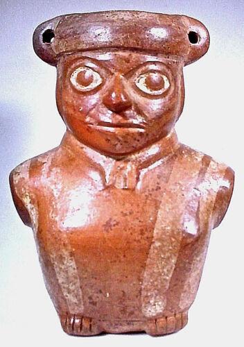 Pre-Columbian MOCHE FIGURAL JAR W/COA