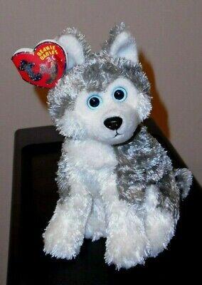 ST* Ty 2.0 Beanie Baby ~ SLEDDER the Husky Dog (6.5 Inch) MWMT (STICKER)