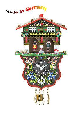 Foresta Nera Miniatura Orologio a pendolo con casetta Meteo, fatto GERMANIA