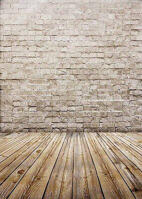 Wood Floor Photo Backdrops Studio Brick Wall Photography Background Vinyl 5x7ft