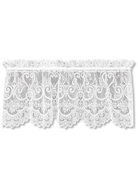 English Ivy Lace White Window Valance by Heritage Lace
