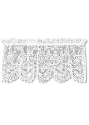 English Ivy Lace Ecru Window Valance by Heritage Lace