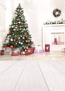 Photography Backdrops Christmas Gifts Wooden Floor Baby Background Vinyl 5x7FT