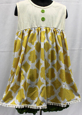 NWT Girls size 6X ADORABLE 2 Piece RUFFLED Pull on GREEN Shorts & Top Outfit 6X