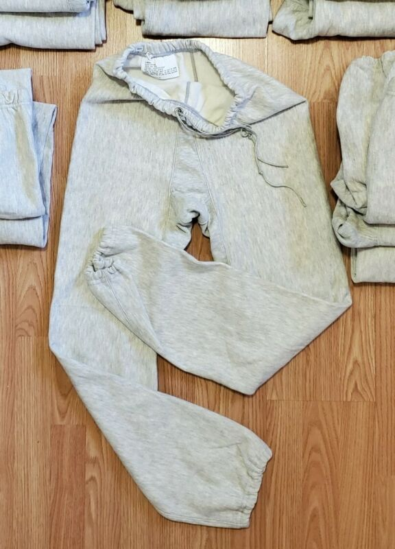 1980s Champion Reverse Weave Gusset Sweatpants Vintage USA DeadStock Military XS
