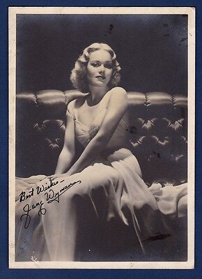 vintage photo autograph movie star Jane Wyman original signature cinema ca 1940