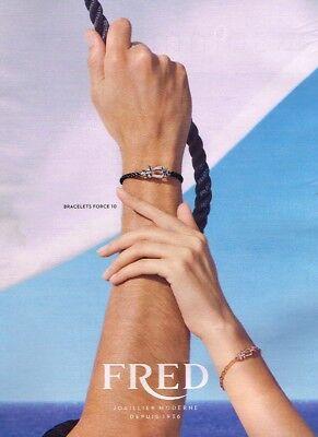 G- publicité advertising 2017 bijoux joaillerie fred bracelets