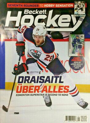 New May 2020 Beckett Hockey Card Price Guide Magazine With Leon Draisaitl