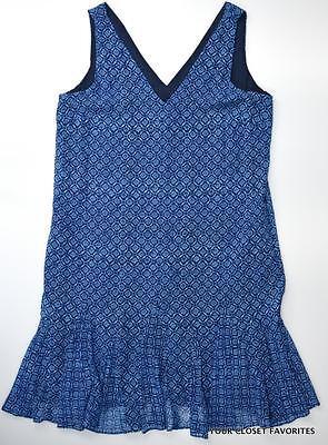 RALPH LAUREN Geo Print V-Neck Dress sz 12 Womens Chiffon Godet Hem Summer large ()