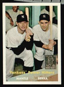 MICKEY-MANTLE-YOGI-BERRA-1957-TOPPS-Reprint-BASEBALL-CARD