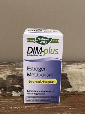 Nature's Way DIM-Plus Diindolylemethane Estrogen Metabolism Formula 60 capsules Formula 60 Capsules Natures Way