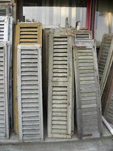 Vecchie finestre a griglia in legno vecchio prezzo per la coppia varie misure 2 ebay - Finestre in legno prezzo ...