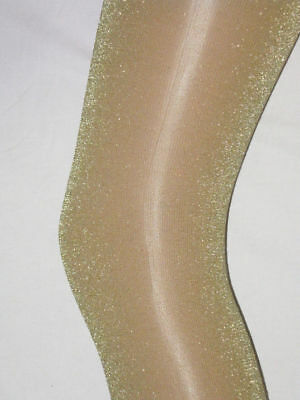White Sparkle Tights (Gold Glitter White Ladies Tights. 10-16 NEW Sparkly Pantyhose Party)