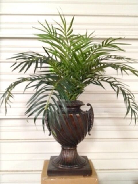 3 phoenix palm plant artificial arrangement silk tree bush in urn pot - Silk Arrangements For Home Decor 2