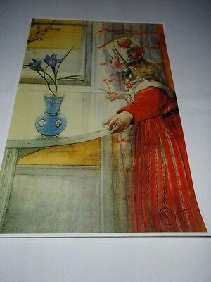 Swedish artist,  Carl Larsson Poster Print NEW Karin at the Window #095