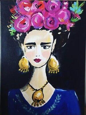 Frida kahlo Acrylic Painting One Off A4