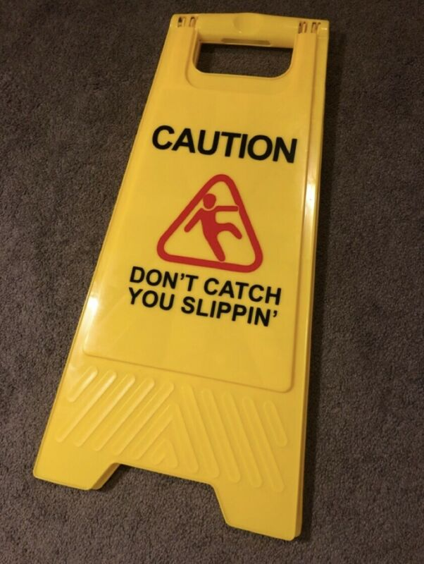 Brand New Childish Gambino This Is America Caution Slip Sign Rare Sold Out Auth