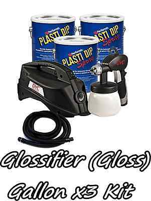3 Gallons Glossifier Performix Plasti Dip Dyc Dipsprayer Gun Bundle Kit Package
